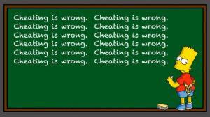 cheatingiswrong